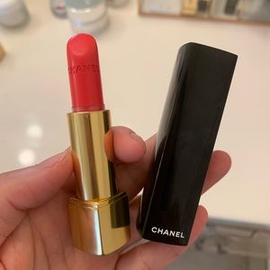 Chanel coral red lipstick